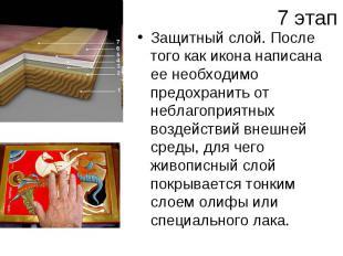 7 этапЗащитный слой. После того как икона написана ее необходимо предохранить от
