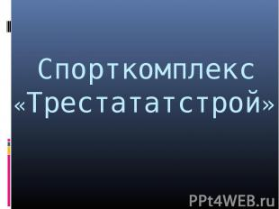 Спорткомплекс«Трестататстрой»