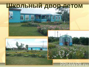 Школьный двор летом