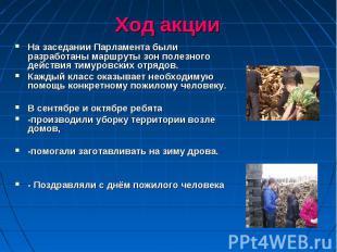 На заседании Парламента были разработаны маршруты зон полезного действия тимуров
