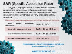 SAR (Specific Absorbtion Rate)